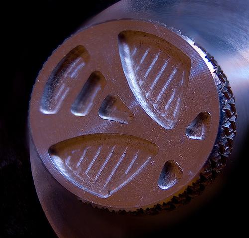 CNC Milled Sustenuto Monochord Knob Logo – Brian Eno Speaker Flowers Sound Installation at Marlborough Home
