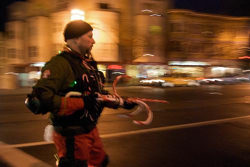 Santa's 12th Nutcracker Regiment marching to Molotov's from the Castro