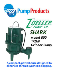 Pump Merchandise Answers to Increasing Homeowner Demand for Heavy Duty Sewage Pumps with Zoeller's New Shark Model 800 Grinder Pumps