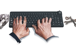 WetKeys Announces New Oil Resistant Keyboard for Industrial Computing, Food Processing Plants, Automotive Factories and Machine Shops