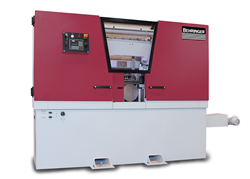 New Model Horizontal Bandsaw — Higher Production Options Now Common Features