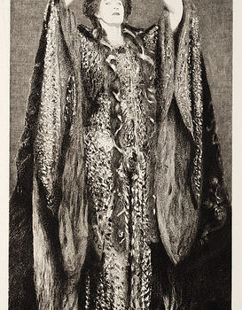 "Portrait of Ellen Terry as ""Lady MacBeth"" (Etching, 1895)"